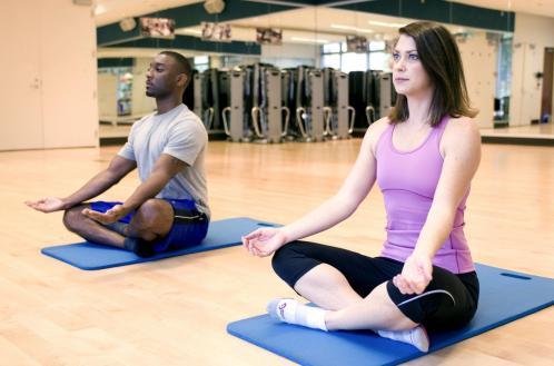 Meditation on yoga class